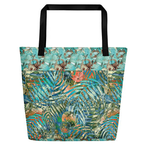Turquoise Jungle - Beach Bag