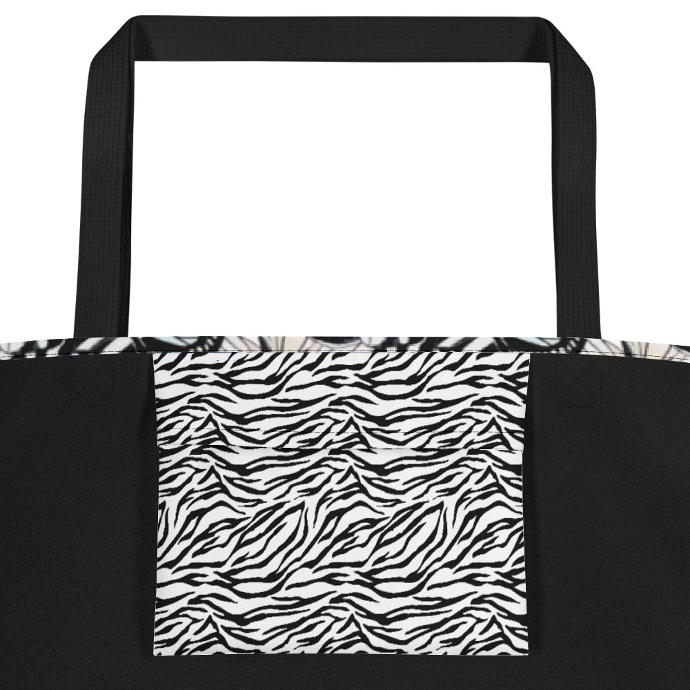 Butterflies, Dragonflies and Zebra - Beach Bag