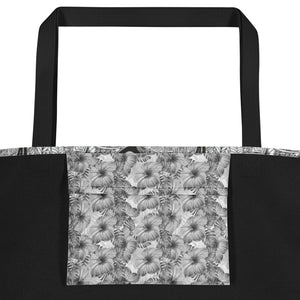 Black and White Doodles with Zebra - Beach Bag