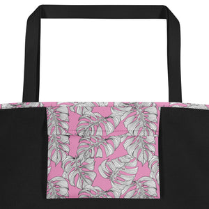 Black and White Unicorns with Pink - Beach Bag
