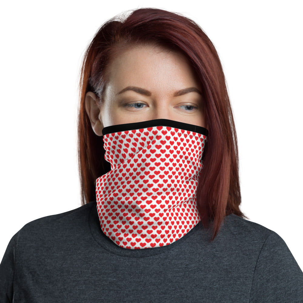 All Red Hearts - Neck Gaiter