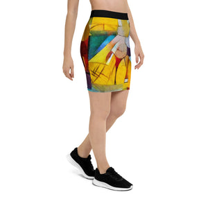 Bright Abstract - Pencil Skirt