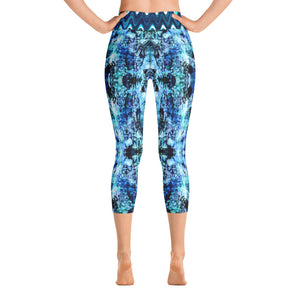 Blue Butterflies - Yoga Capri Leggings