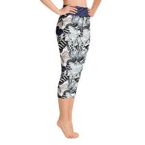 Butterflies and Zebra - Yoga Capri Leggings