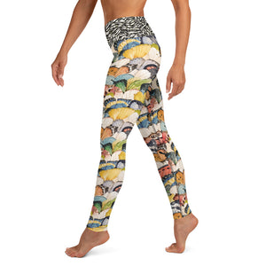 Watercolor Butterflies - Yoga Leggings