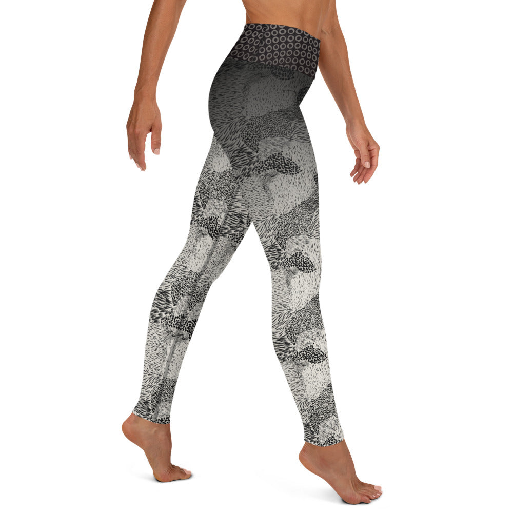 Black and Cream Animal - Yoga Leggings