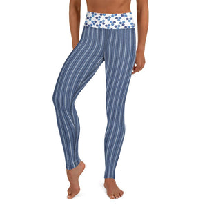 Crazy-Ass Leggings - Denim Stripes and Dots - Yoga Leggings