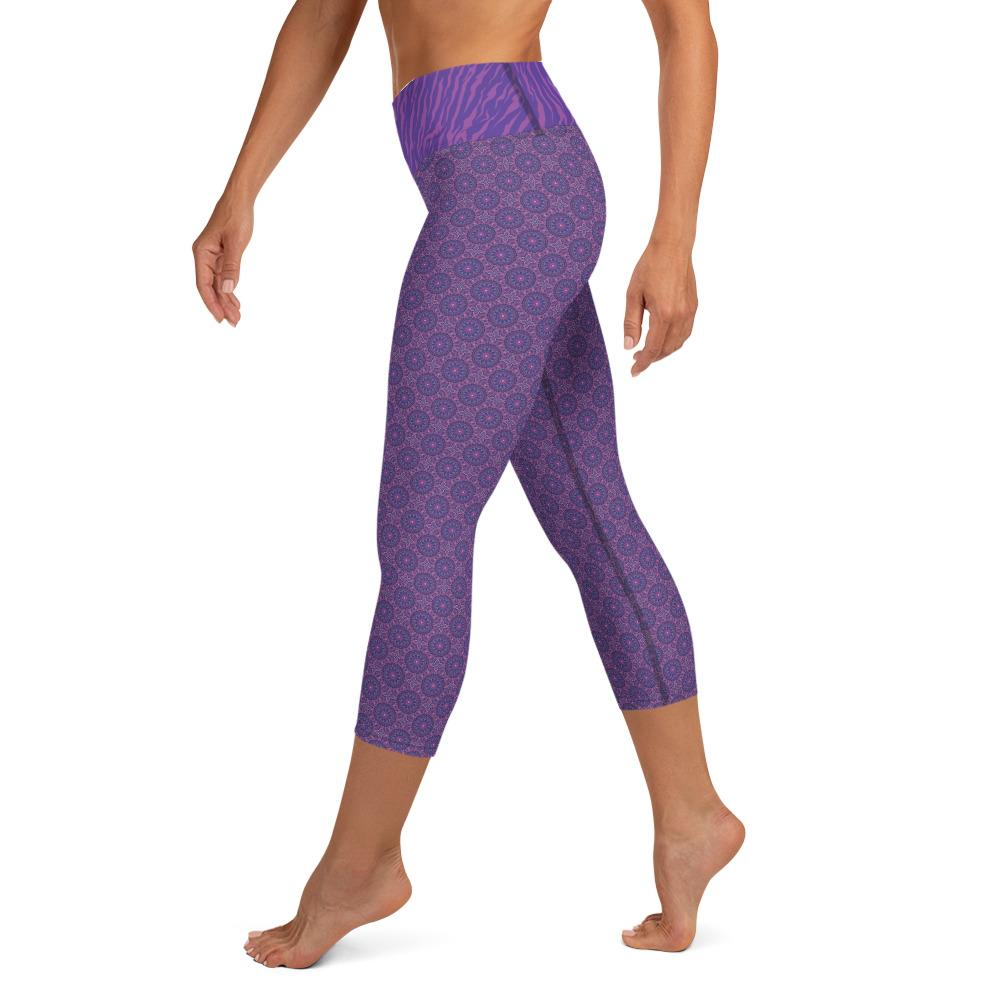 Crazy-Ass Leggings - Purple Zebra - Yoga Capri Leggings