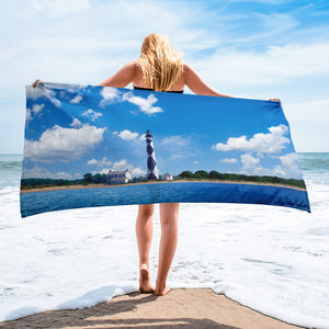 Cape Lookout Lighthouse Beach Towel