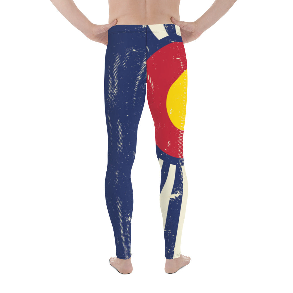 Crazy-Ass Leggings - Men's - Colorado Flag - Grunge