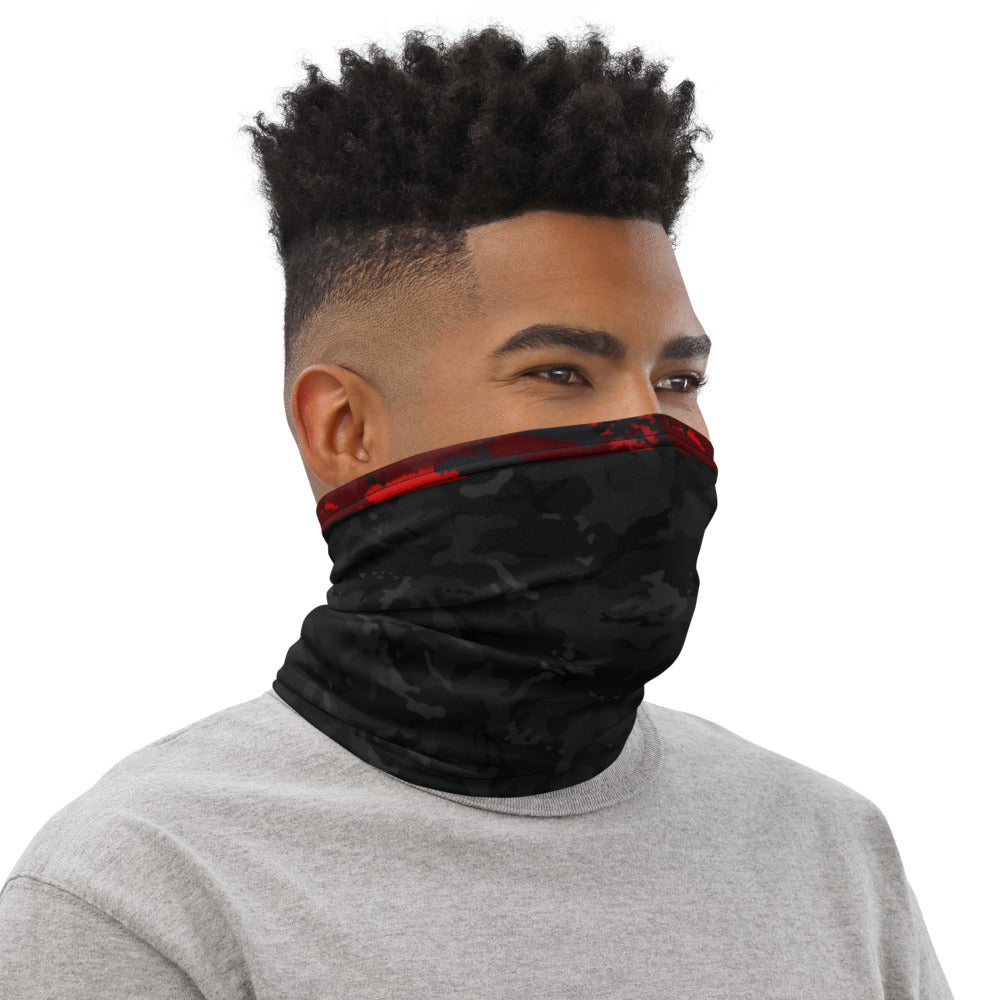 Black and Red Camo - Neck Gaiter