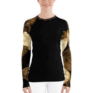 Copper Butterflies - Crazy-Ass Leggings - Women's Rash Guard