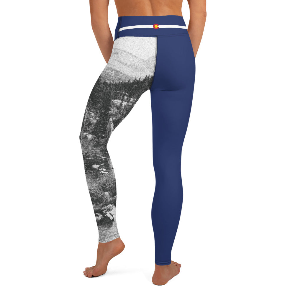 Crazy-Ass Leggings - Colorado Flag and Mountain - Yoga Leggings