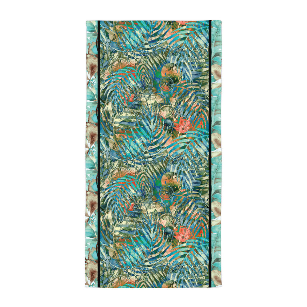 Turquoise Jungle - Beach Towel