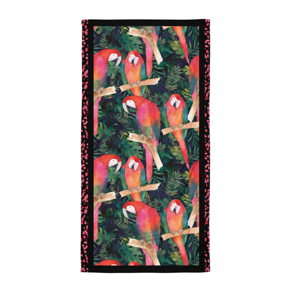 Watercolor Parrots - Beach Towel