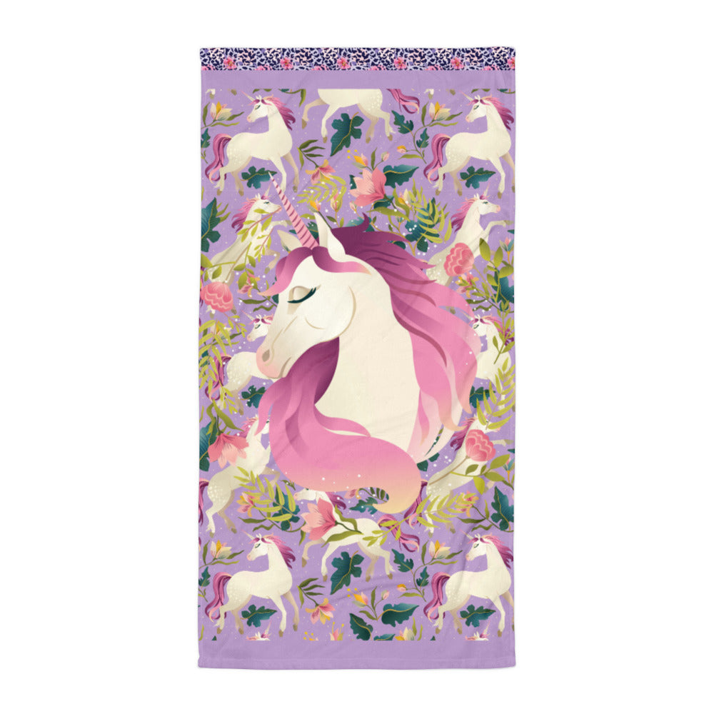 Purple Unicorn - Beach Towel