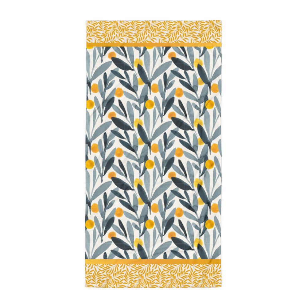 Yellows and Gray - Beach Towel