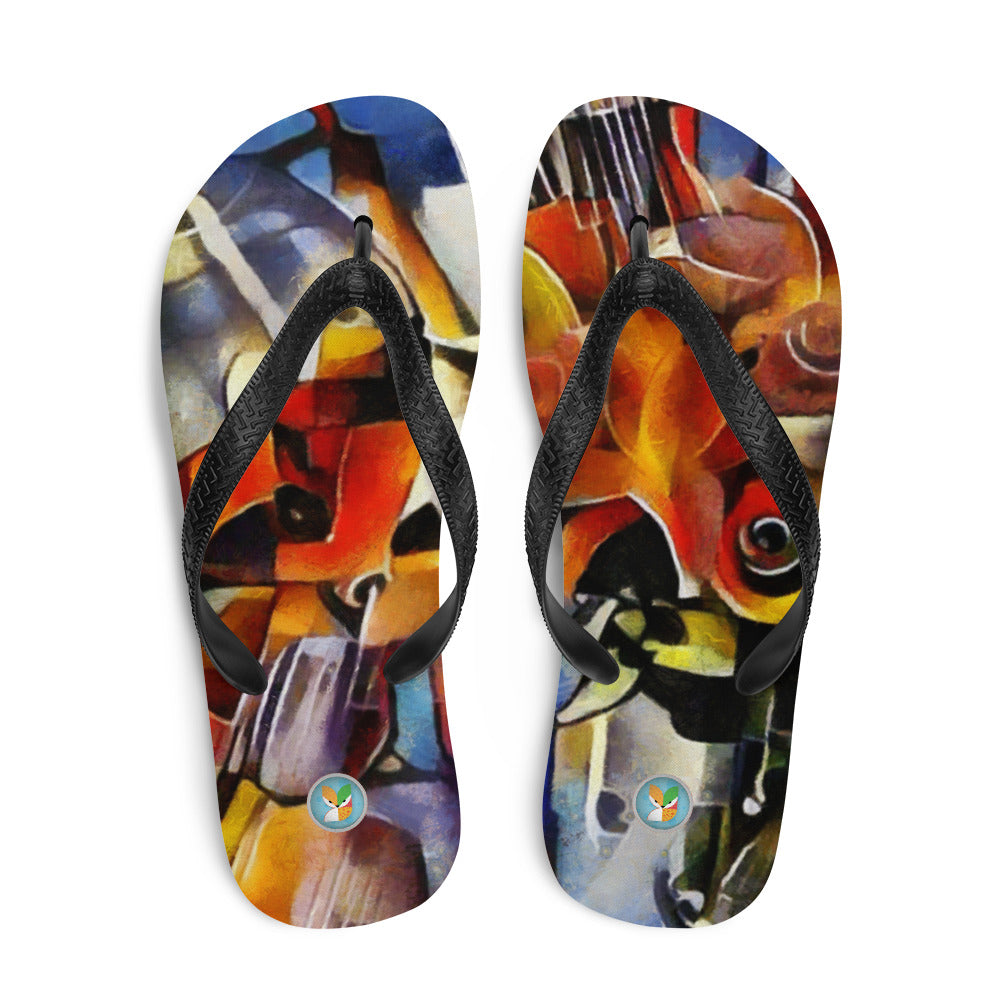Abstract Wine and Roses - Flip-Flops