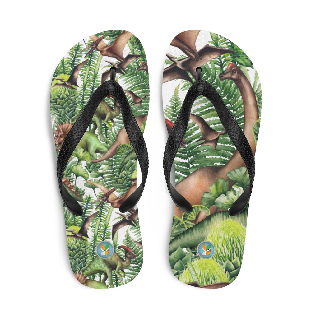 Jungle Dinosaurs - Flip-Flops