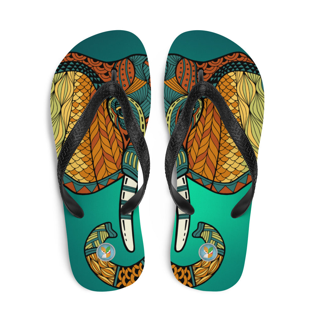 Tribal Elephant - Flip-Flops