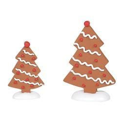 Gingerbread Trees Set of 2