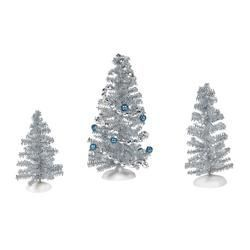 Blue Christmas Tinsels Set of 3