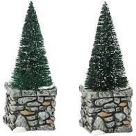 Limestone Topiaries Set of 2