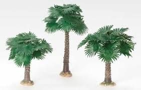 Fan Palm Tree Set of 3