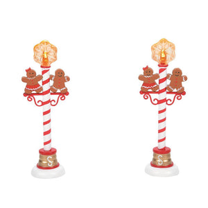 Gingerbread Street Lights Set of 2