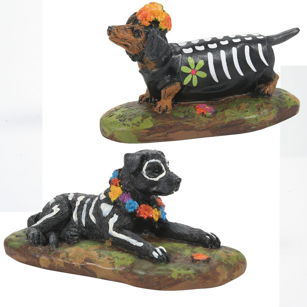 Day of the Dead Dogs Set of 2