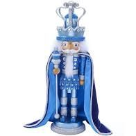 Blue King w Swarovski Nutcracke