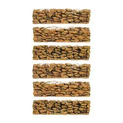 Village Stone Wall - Set of 6