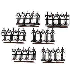 Spooky Wrought Iron Fence S/6
