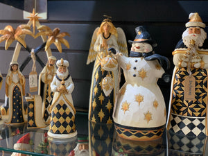 JS 7pc Black and Gold Nativity