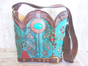 western leather handbags handcrafted one of a kind and made with recycled cowboy boots
