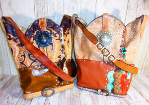 Unique Leather Handbags Hand-Crafted from Reclaimed Cowboy Boots