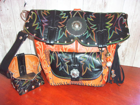 custom western handbag, custom western backpack, cowboy boot purse