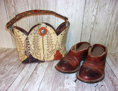 Custom cowboy boot bible tote
