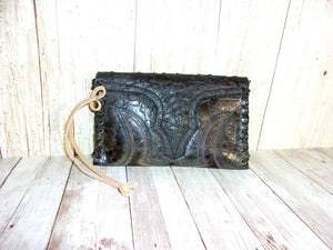 Leather Wristlet Cowboy Boot Wallet  WR18 - handcrafted handbags - cowboy boot purses - western purses - western handbags - western conceal carry purses - unique swing arm bags - Chris Thompson Bags