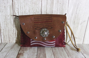 Leather Wristlet Cowboy Boot Wallet  WR19 - Chris Thompson Bags