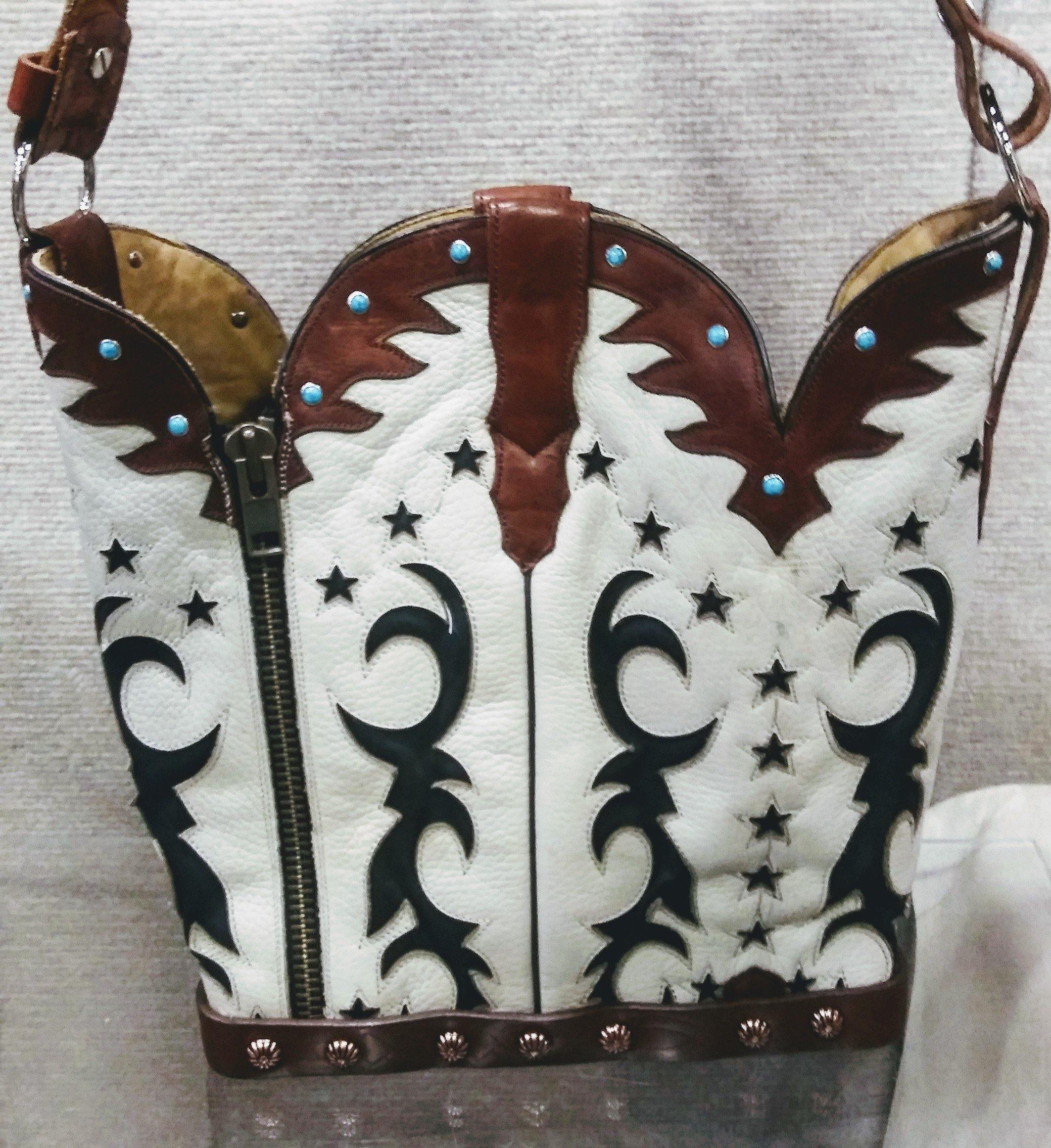 Cowboy Boot Purse - Handcrafted Western Handbag - Leather Western Purse BK34 cowboy boot purses, western fringe purse, handmade leather purses, boot purse, handmade western purse, custom leather handbags Chris Thompson Bags