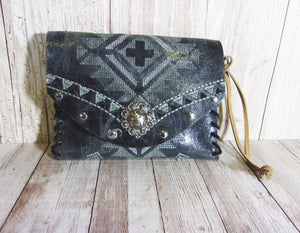 Leather Wristlet - Cowboy Boot Wallet - Handcrafted Leather Wristlet  WR20 cowboy boot purses, western fringe purse, handmade leather purses, boot purse, handmade western purse, custom leather handbags Chris Thompson Bags