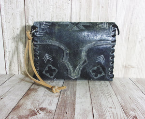 Leather Wristlet Cowboy Boot Wallet  WR20 - Chris Thompson Bags