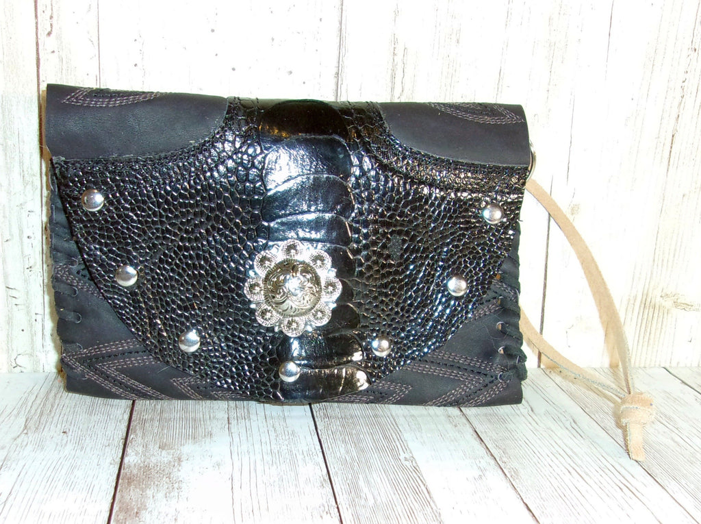 Leather Wristlet Cowboy Boot Wallet  WR26 - Chris Thompson Bags