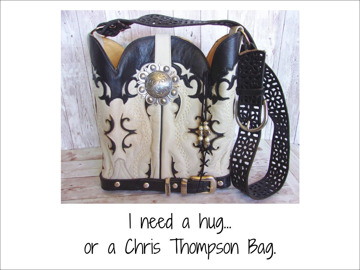 Unique Handcrafted Western Bags from $249 cowboy boot purses, western fringe purse, handmade leather purses, boot purse, handmade western purse, custom leather handbags Chris Thompson Bags