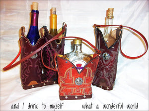 Cowboy Boot Wine and Whiskey Totes - Handcrafted - Distinctive Western Handbags, Purses and Totes