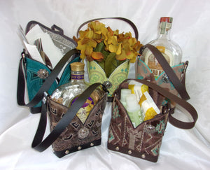 Leather Whiskey Tote CR66 - Cowboy Boot Purses by Chris Thompson for Distinctive Western Fashion