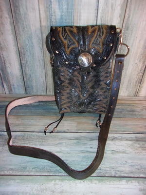 Thigh-Tie Cross-Body Bag BB01 - Distinctive Western Handbags, Purses and Totes