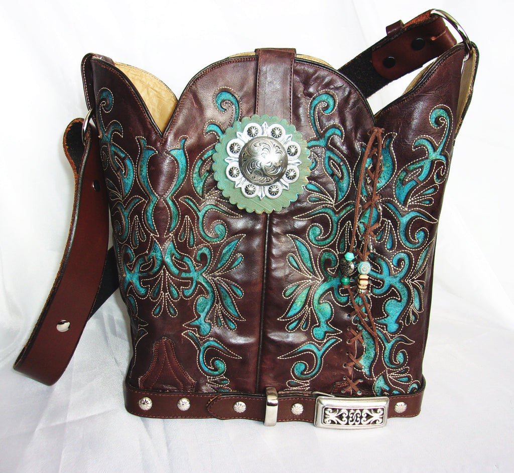 Cowboy Boot Bucket Bag BK03 - Cowboy Boot Purses by Chris Thompson for Distinctive Western Fashion