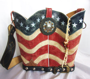 Cowboy Boot Bucket Bag BK06 - Cowboy Boot Purses by Chris Thompson for Distinctive Western Fashion
